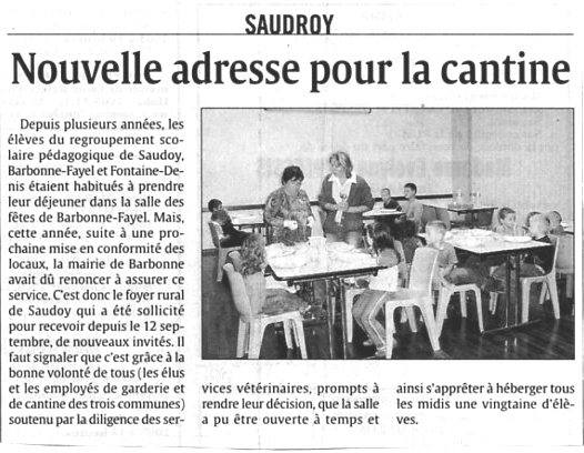 cantine scolaire au foyer